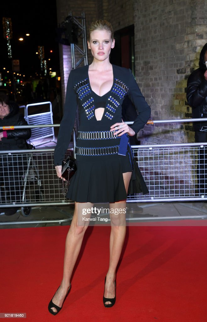 Lara Stone attends the Naked Heart Foundation's Fabulous Fund Fair during London Fashion Week February 2018 at the Roundhouse on February 20, 2018 in London, England.