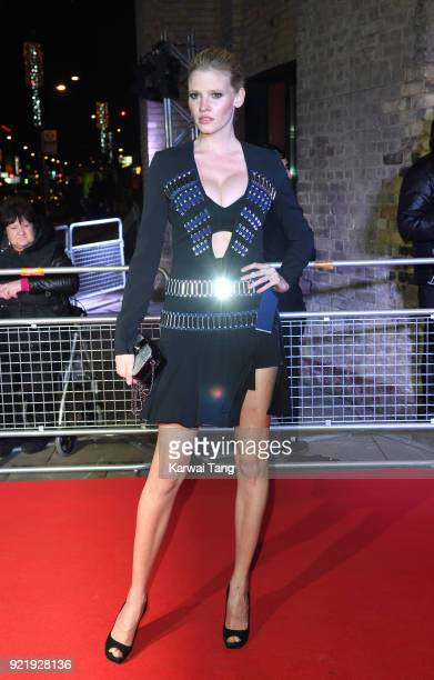Lara Stone attends the Naked Heart Foundation's Fabulous Fund Fair during London Fashion Week February 2018 at the Roundhouse on February 20 2018 in...