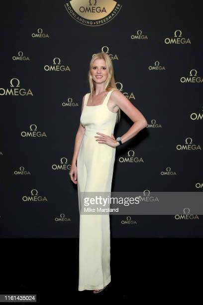 Lara Stone attends the OMEGA 50th anniversary Moon Landing dinner at Television Centre on July 11, 2019 in London, England.