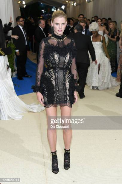 Lara Stone attends the 'Rei Kawakubo/Comme des Garcons Art Of The InBetween' Costume Institute Gala at Metropolitan Museum of Art on May 1 2017 in...