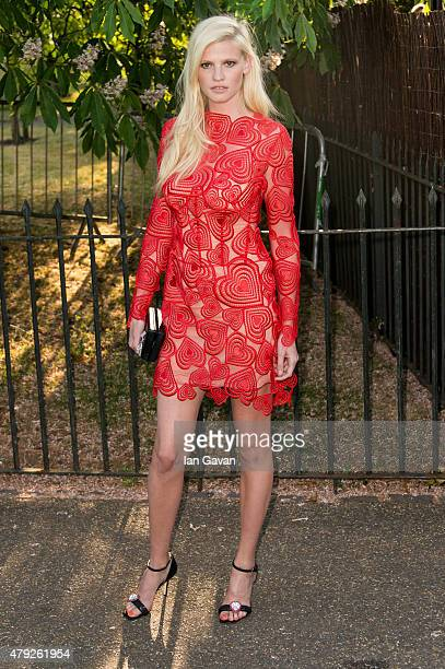 Lara Stone attends the Serpentine Gallery Summer Party at The Serpentine Gallery on July 2 2015 in London England