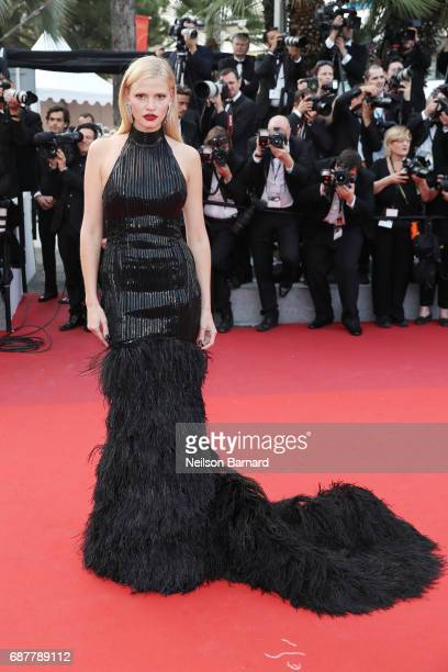 Lara Stone attends the 'The Beguiled' screening during the 70th annual Cannes Film Festival at Palais des Festivals on May 24 2017 in Cannes France