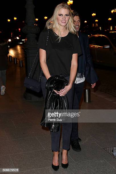 Lara Stone attends the Versace Haute Couture Spring Summer 2016 show as part of Paris Fashion Week on January 24 2016 in Paris France
