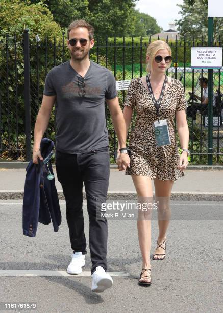 Lara Stone attends Women's Final Day at the Wimbledon 2019 Tennis Championships at All England Lawn Tennis and Croquet Club on July 13 2019 in London...