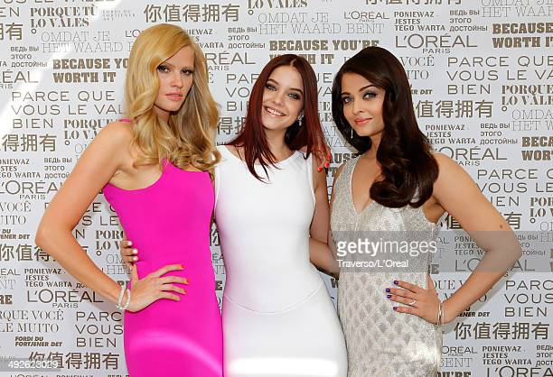 "Lara Stone, Barbara Palvin and Aishwarya Rai attend ""The Search"" premiere during the 67th Annual Cannes Film Festival on May 21, 2014 in Cannes,..."