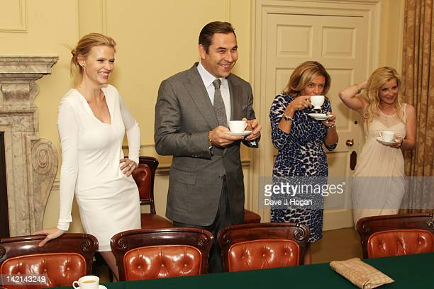 Lara Stone David Walliams Melanie Bishop and Helen Skelton attend a tea reception to congratulate Sport Relief 2012 celebrity challengers at No 10...
