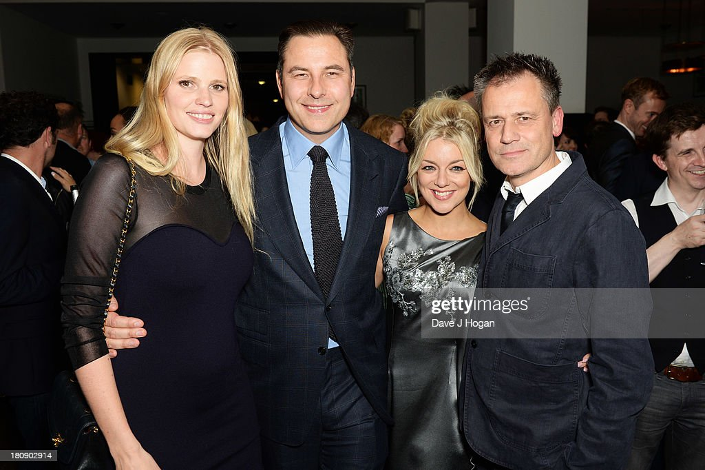 Lara Stone, David Walliams, Sheridan Smith and Michael Grandage attend the afterparty for Midsummer Nights Dream at The National Gallery on September 17, 2013 in London, England.
