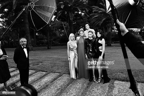 Lara Stone Doutzen Kroes Eva Longoria Natasha Poly and Isabeli Fontana attend amfAR's 22nd Cinema Against AIDS Gala Presented By Bold Films And Harry...