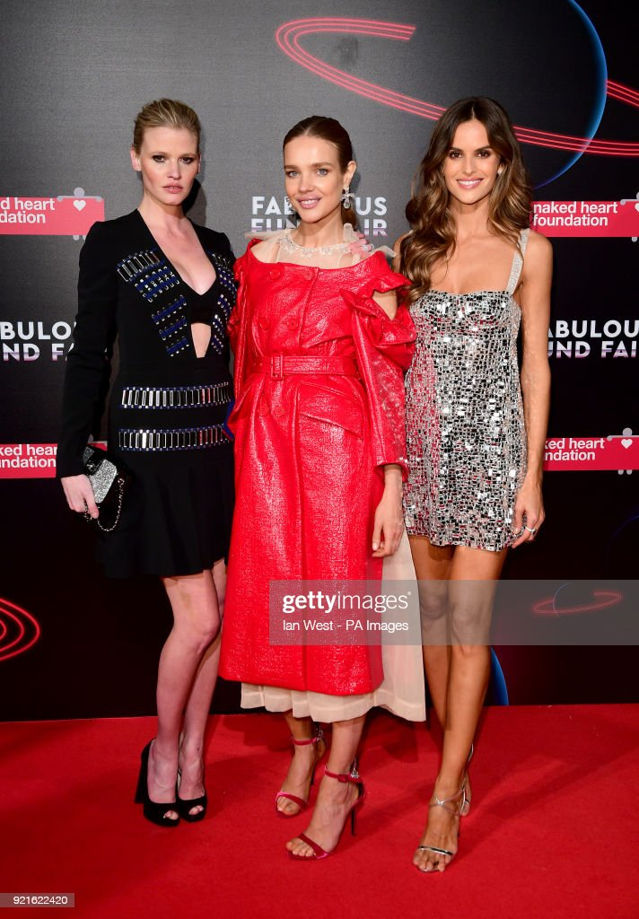 Lara Stone, Natalia Vodianova and Izabel Goulart attending the Naked Heart Foundation Fabulous Fun dFair held at The Roundhouse in Chalk Farm, London.