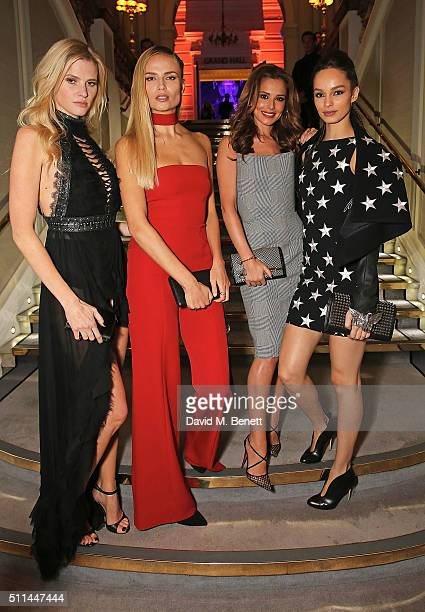 Lara Stone Natasha Poly Cheryl FernandezVersini and Luma Grothe attend a Celebration of L'Oreal Paris Studio Pro at London Fashion Week L'Oreal Paris...