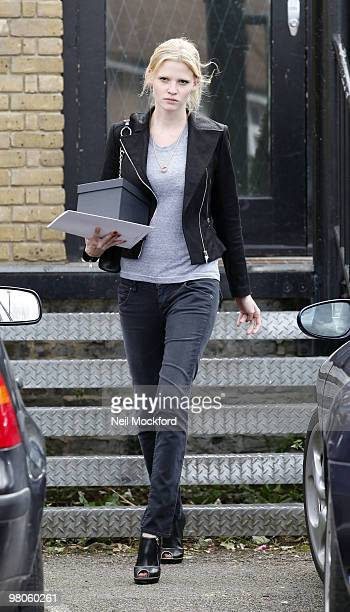 Lara Stone Sighted leaving a flower shop on the eve of her wedding on March 26 2010 in London England