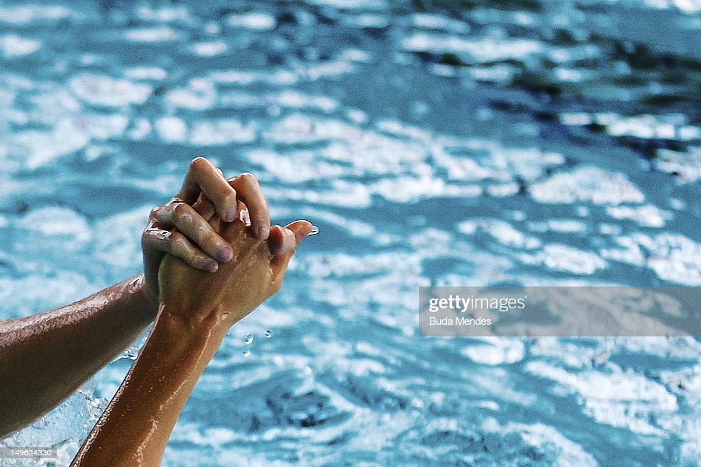 Brazilian Olympic Synchronized Swimming Training Session : ニュース写真
