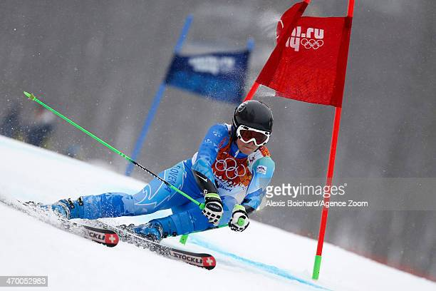 Lara Tina Maze of Slovenia wins the gold medal during the Alpine Skiing Women's Giant Slalom at the Sochi 2014 Winter Olympic Games at Rosa Khutor...