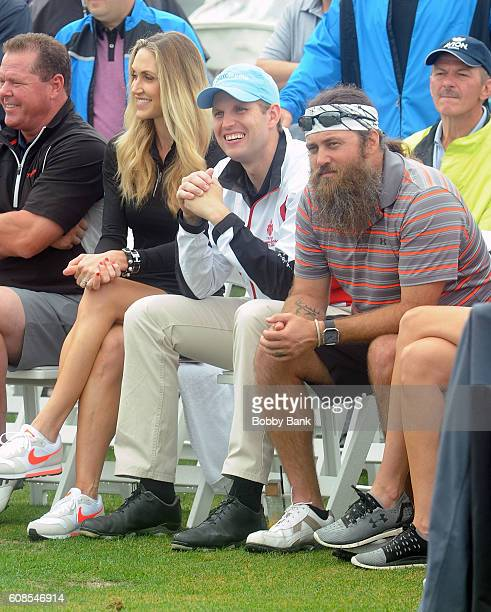 Lara Trump Eric Trump and Willie Robertson attend the 10th Annual Eric Trump Foundation Golf Invitational at Trump National Golf Club Westchester on...