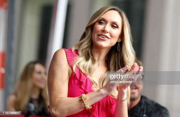 Lara Trump is on stage as Phil Vassar performs on FOX Friends AllAmerican Summer Concert Series on July 19 2019 in New York City