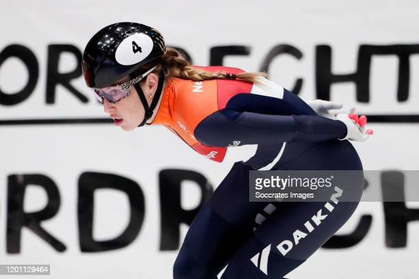 Lara van Ruijven during the ISU World Cup Short Track at the Sportboulevard on February 15 2020 in Dordrecht Netherlands