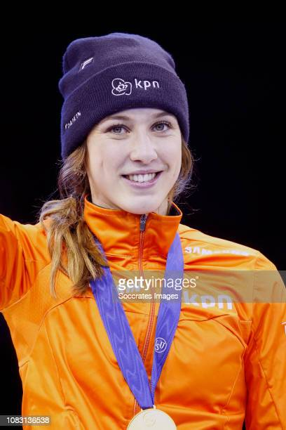 Lara van Ruijven of The Netherlands during the ISU European Championship Shorttrack at the Sportboulevard Dordrecht on January 12 2019 in Dordrecht...