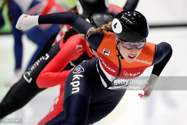 Lara van Ruijven of the Netherlands during the ISU World Cup Short Track at the Sportboulevard on February 14 2020 in Dordrecht Netherlands