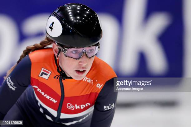Lara van Ruijven of The Netherlands during the ISU World Cup Short Track at the Sportboulevard on February 15 2020 in Dordrecht Netherlands