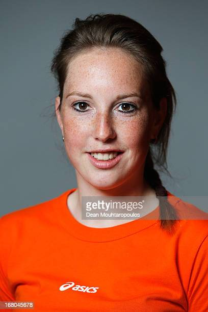 Lara van Ruijven poses during the NOC*NSF Sochi athletes and officials photo shoot for Asics at the Spoorwegmuseum on May 4 2013 in Utrecht...