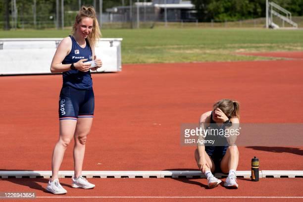 Lara van Ruijven Yara van Kerkhof seen during the training session of the Dutch national shorttrack team on May 20 2020 in Heerenveen The Netherlands