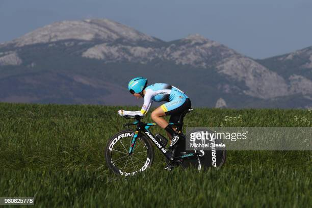 Lara Vieceli of Italy and Astana Women's Team during the 31st Women WT EmakumeenBira Stage 2 266km Individual Time Trial from Agurain to Gastetz on...