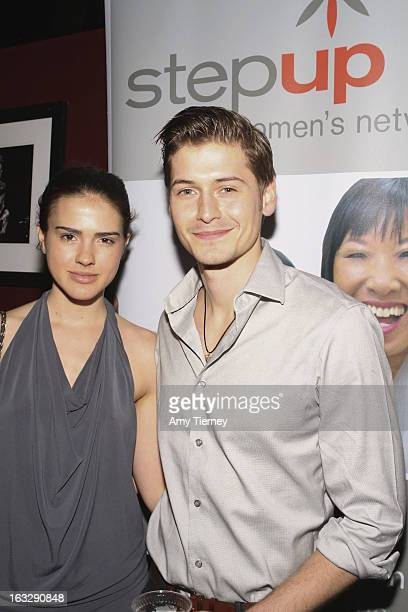 Lara Vosburgh and Morgan McClellan attend the Step Up Women's Network Women Who Rock Event at The Roxy Theatre on March 6 2013 in West Hollywood...