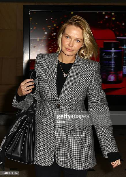 Lara Worthington arrives at Sydney Airport on January 30 2017 in Sydney Australia