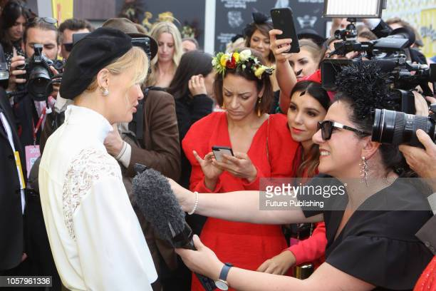Lara Worthington at Lexus Melbourne Cup Day at the 2018 Melbourne Cup Carnival