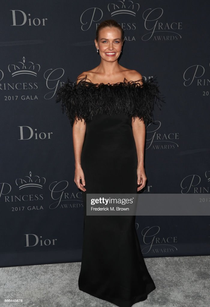 Lara Worthington attends 2017 Princess Grace Awards Gala at The Beverly Hilton Hotel on October 25, 2017 in Beverly Hills, California.