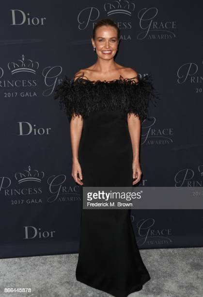 Lara Worthington attends 2017 Princess Grace Awards Gala at The Beverly Hilton Hotel on October 25 2017 in Beverly Hills California