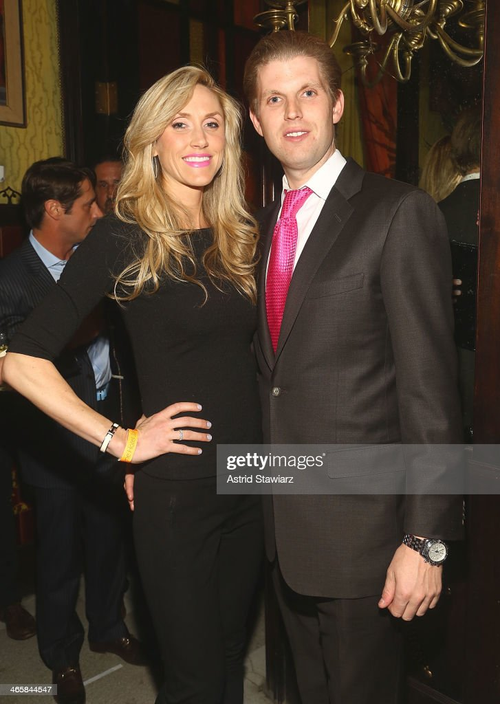 Lara Yunaska and Eric Trump attend the 2014 Animal USA Event at The Jane Hotel on January 29, 2014 in New York City.
