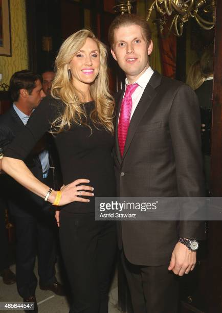 Lara Yunaska and Eric Trump attend the 2014 Animal USA Event at The Jane Hotel on January 29 2014 in New York City