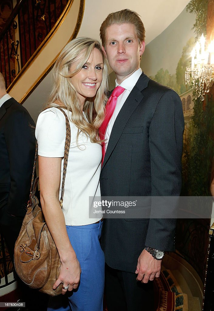 Lara Yunaska and Eric Trump attend the exhibition of artwork featuring Giovanni Perrone and hosted by Ivana Trump and Mark Antonio Rota on April 30, 2013 in New York City.