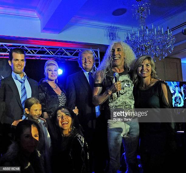 Lara Yunaska, Eric Trump, Dee Snider, Donald Trump, Donald Trump Jr., Ivana Trump and Kai Madison Trump attend the 8th Annual Eric Trump Golf...