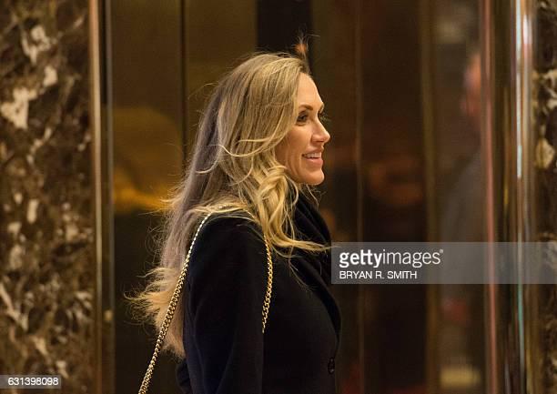 Lara Yunaska Eric Trump's wife arrives in the lobby of Trump Tower in New York on January 10 2017 / AFP / Bryan R Smith
