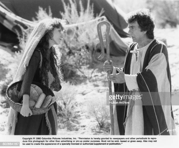 Laraine Newman and Dudley Moore argue in a scene for the movie Wholly Moses circa 1980