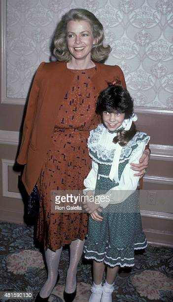 Laraine Stephens attends Mother-Daughter Fashion Show Benefit on March 27, 1986 at the Beverly Hilton Hotel in Beverly Hills, California, California.