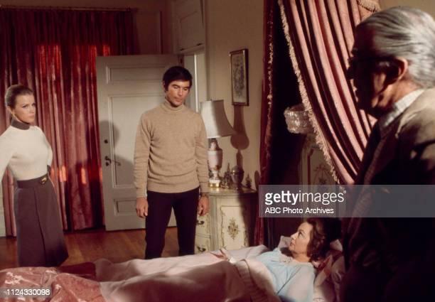 Laraine Stephens, Charles Robinson, Olivia de Havilland, Walter Pidgeon appearing in the Walt Disney Television via Getty Images tv movie 'The...