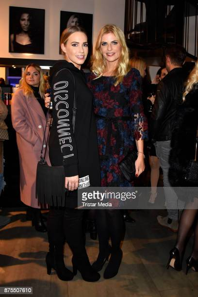 LaraIsabelle Rentinck and Tanja Buelter attend the Apjar Black studio opening on November 17 2017 in Berlin Germany