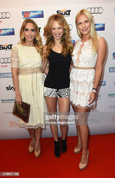 LaraIsabelle Rentinck Birte Glang and Cheyenne Pahde attend the Audi Director's Cut at the Praterinsel during the Munich Film Festival at Praterinsel...