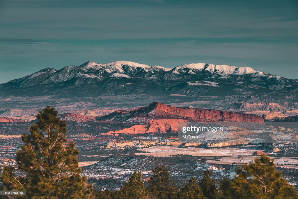 Larb Hollow Overlook point at Escalante Utah : Stock Photo
