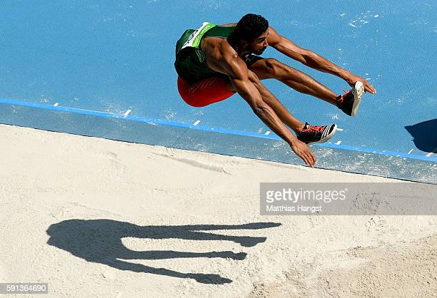 Larbi Bourrada of Algeria competes in the Men's Decathlon Long Jump on Day 12 of the Rio 2016 Olympic Games at the Olympic Stadium on August 17 2016...