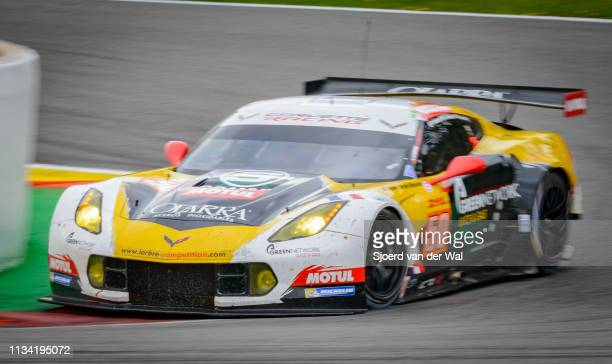 Larbre Competition Chevrolet Corvette C7R racing car driven by RODA GRUBERTI PPOULSEN K driving on track during the 6 Hours of SpaFrancorchamps...
