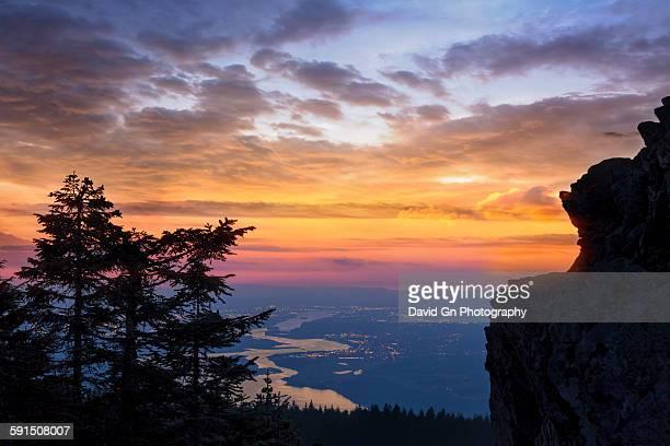 Larch Mountain Sunset