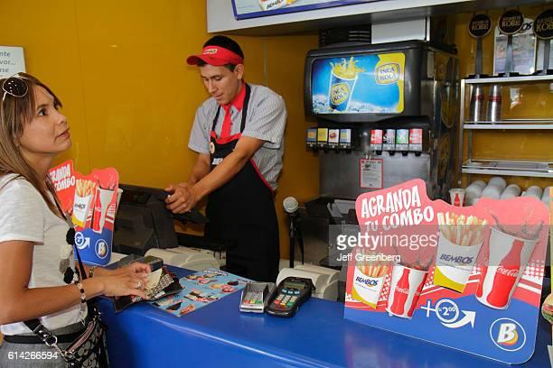 Larcomar shopping center Bembos fast food restaurant