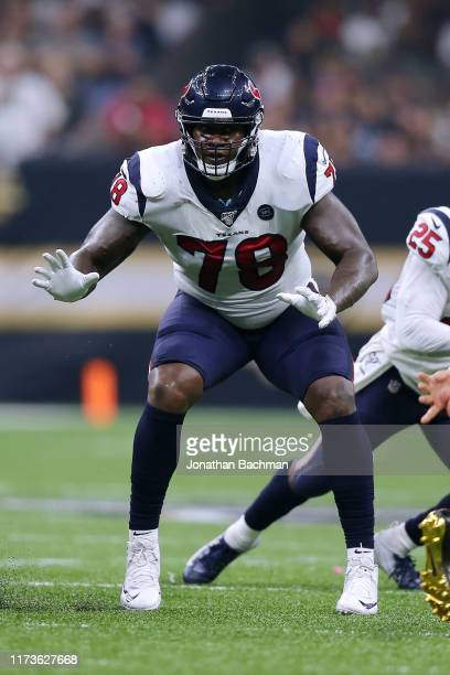Laremy Tunsil of the Houston Texans in action during a game against the New Orleans Saints at the Mercedes Benz Superdome on September 09 2019 in New...