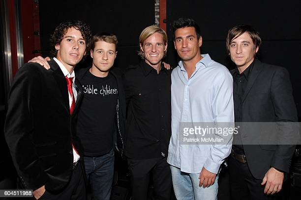 Laren Poole Ben McKenzie Jason Russell AJ and Bobby Bailey attend Ben McKenzie Hosts The Red is for Emmy Benefited Invisible Children with Musical...