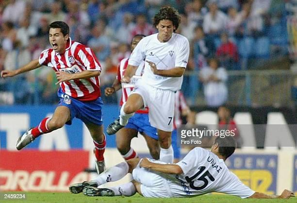 LarenaAvellaneda Jorge of Atletico de Madrid is chased by Vergara Unai of Albacete during the Primera Liga match between Atletico de Madrid and...