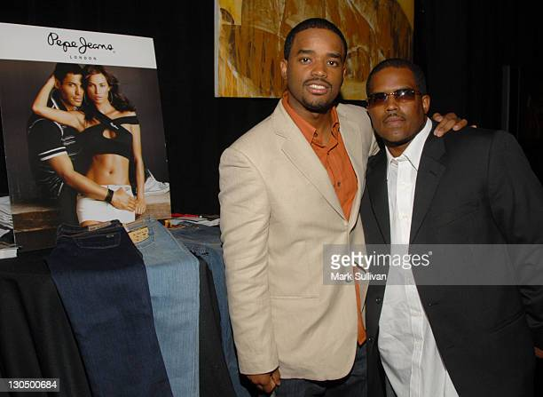 Larenz Tate and Lahmard J Tate in Backstage Creations 2006 BET Awards The Retreat